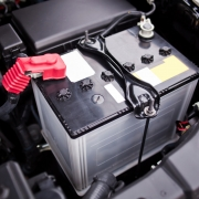 Battery installed near the V8 motor in SUV