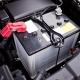 Battery installed near the V8 motor in SUV